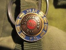 Soldatprovsmärke 2019 med 35-årskrans